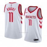 Camiseta Houston Rockets Brandon Knight #11 Association 2018 Blanco