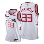 Camiseta Houston Rockets Robert Covington #33 Ciudad 2019-20 Blanco