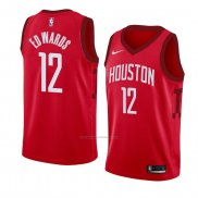 Camiseta Houston Rockets Vincent Edwards #12 Earned 2018-19 Rojo