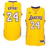 Camiseta Los Angeles Lakers Kobe Bryant #24 Amarillo