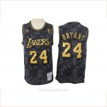 Camiseta Los Angeles Lakers Kobe Bryant #24 Hardwood Classics Negro