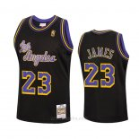 Camiseta Los Angeles Lakers Lebron James #23 Reload Hardwood Classics 2020 Negro