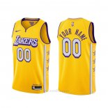 Camiseta Los Angeles Lakers Personalizada Ciudad 2019-20 Amarillo