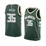 Camiseta Milwaukee Bucks Christian Wood #35 Icon 2018 Verde