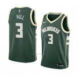 Camiseta Milwaukee Bucks George Hill #3 Icon 2018 Verde