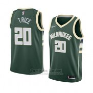 Camiseta Milwaukee Bucks Travis Trice #20 Icon 2018 Verde