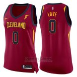Camiseta Mujer Cleveland Cavaliers Kevin Love Icon #0 2017-18 Rojo