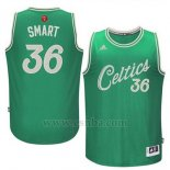 Camiseta Navidad 2015 Boston Celtics Marcus Smart #36 Verde