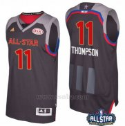 Camiseta All Star 2017 Golden State Warriors Klay Thompson #11 Negro