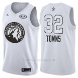Camiseta All Star 2018 Minnesota Timberwolves Karl-anthony Towns #32 Blanco