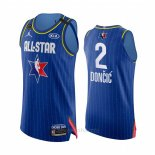Camiseta All Star 2020 Dallas Mavericks Luka Doncic Autentico #2 Azul