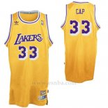 Camiseta Apodo Los Angeles Lakers CAP #33 Amarillo