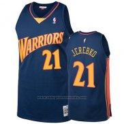 Camiseta Golden State Warriors Jonas Jerebko 2009-10 Hardwood Classics Azul