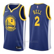 Camiseta Golden State Warriors Jordan Bell #2 Icon 2017-18 Azul
