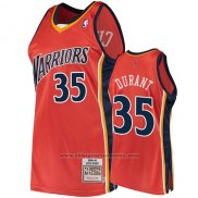 Camiseta Golden State Warriors Kevin Durant 2009-10 Hardwood Classics Naranja