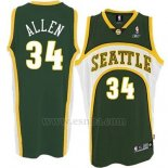 Camiseta Historic Seattle SuperSonics Ray Allen #34 Verde