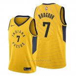 Camiseta Indiana Pacers Malcolm Brogdon #7 Statement Oro