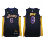 Camiseta Los Angeles Lakers Kobe Bryant #8 Retirement 2018 Negro