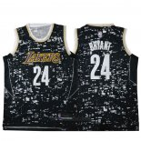 Camiseta Luces De La Ciudad Los Angeles Lakers Kobe Bryant #24 Negro