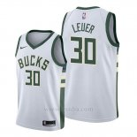 Camiseta Milwaukee Bucks Jon Leuer #30 Association Blanco