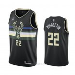 Camiseta Milwaukee Bucks Khris Middleton #22 Statement 2020-21 Negro