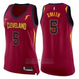Camiseta Mujer Cleveland Cavaliers Jr Smith Icon #5 2017-18 Rojo