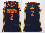 Camiseta Mujer Cleveland Cavaliers Kyrie Irving #2 Azul
