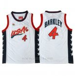 Camiseta USA 1996 Charles Barkley #4 Blanco