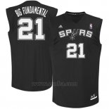 Camiseta Apodo San Antonio Spurs Big Fundamental #21 Negro