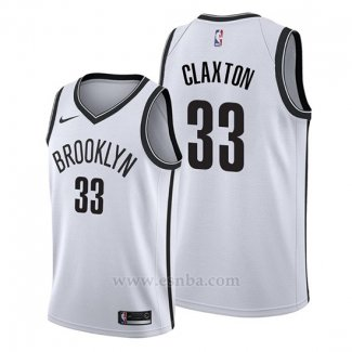 Camiseta Brooklyn Nets Nicolas Claxton #33 Association 2019-20 Blanco