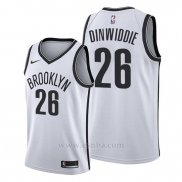 Camiseta Brooklyn Nets Spencer Dinwiddie #26 Association Edition Blanco