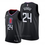 Camiseta Los Angeles Clippers Paul George #24 Statement 2019-20 Negro