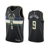 Camiseta Milwaukee Bucks Wesley Matthews #9 Statement 2020-21 Negro