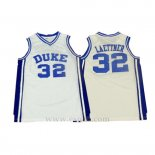 Camiseta NCAA Duke Blue Devils Christian Laettner #32 Blanco