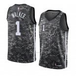 Camiseta San Antonio Spurs Lonnie Walker #1 Ciudad 2018 Gris2