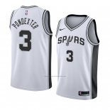 Camiseta San Antonio Spurs Quincy Pondexter #3 Association 2018 Blanco