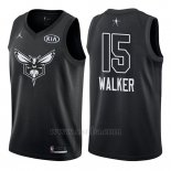 Camiseta All Star 2018 Charlotte Hornets Kemba Walker #15 Negro