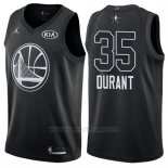 Camiseta All Star 2018 Golden State Warriors Kevin Durant #35 Negro
