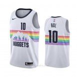 Camiseta Denver Nuggets Bol Bol #10 Ciudad Blanco