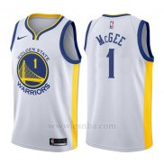 Camiseta Golden State Warriors Javale McGee #1 Association 2017-18 Blanco