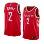 Camiseta Houston Rockets Brandon Knight #2 Icon 2017-18 Rojo