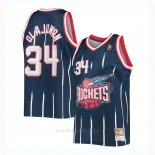 Camiseta Houston Rockets Hakeem Olajuwon #34 Mitchell & Ness Azul