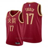 Camiseta Houston Rockets P.j. Tucker #17 Ciudad Edition Blanco
