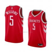 Camiseta Houston Rockets Troy Williams #5 Icon 2018 Rojo