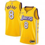 Camiseta Los Angeles Lakers Kobe Bryant #8 Ciudad Edition Amarillo