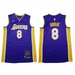 Camiseta Los Angeles Lakers Kobe Bryant #8 Retirement 2018 Violeta