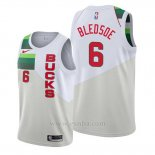 Camiseta Milwaukee Bucks Eric Bledsoe #6 Earned Blanco