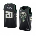 Camiseta Milwaukee Bucks Jason Smith #20 Statement 2018 Negro