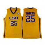 Camiseta NCAA LSU Tigers Ben Simmons #25 Amarillo
