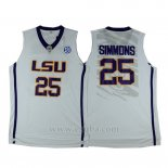 Camiseta NCAA LSU Tigers Ben Simmons #25 Blanco